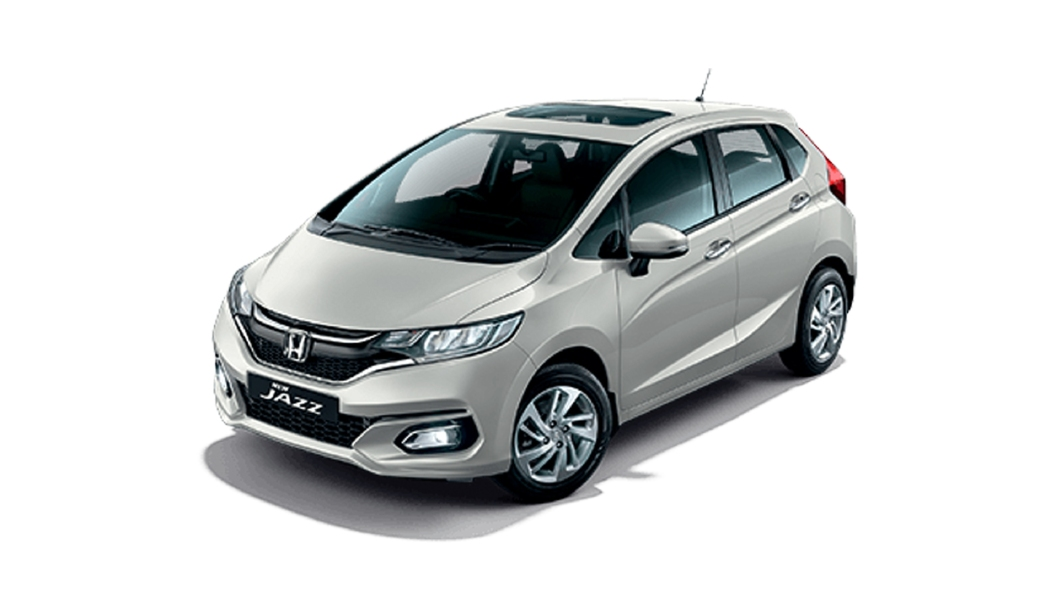 Honda  Jazz Platinum White Metallic Colour