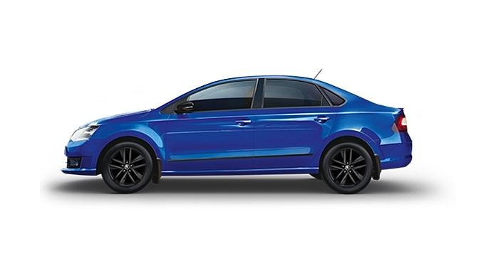 Skoda  Rapid TSI Lapiz Blue Colour
