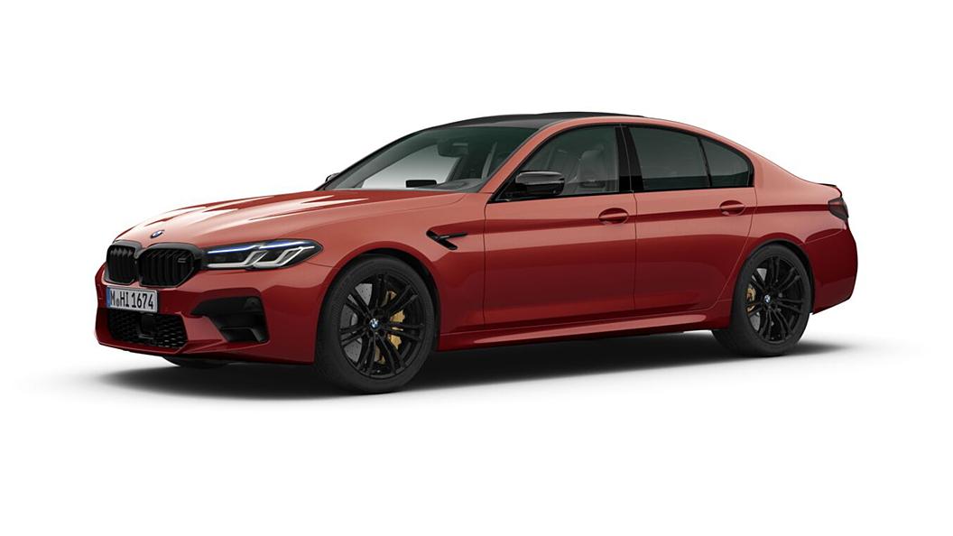 BMW  M5 Motegi Red Metallic Colour