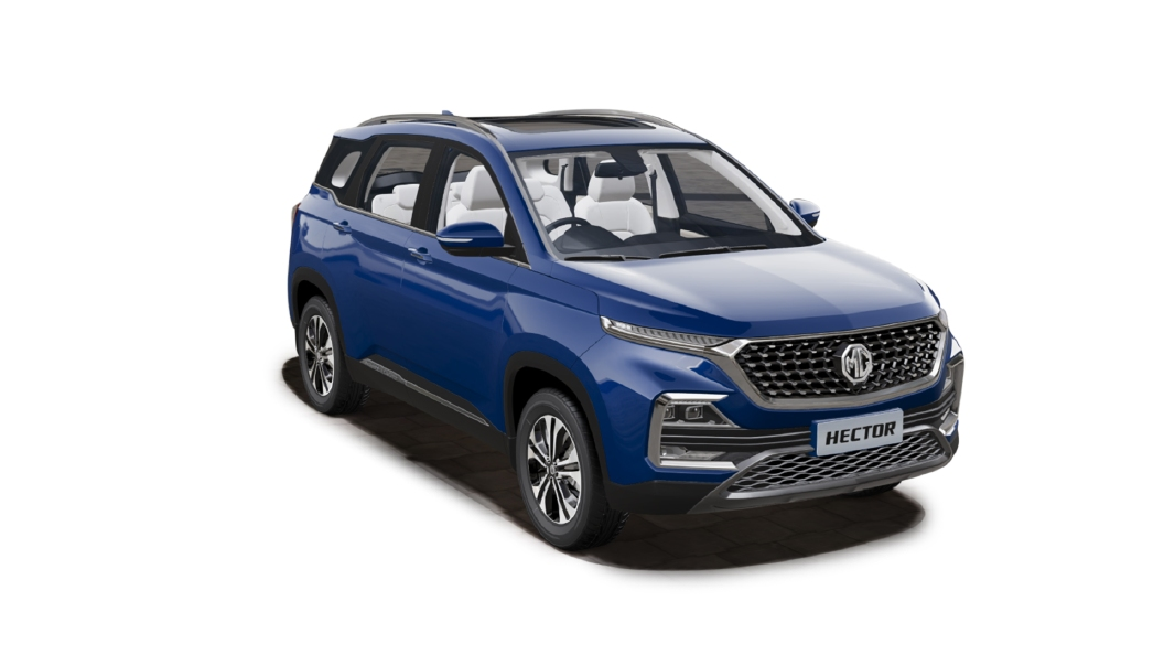 MG  Hector Starry Sky Blue Colour
