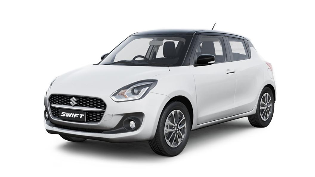 Maruti Suzuki  Swift Pearl Arctic White with Pearl Midnight Black Roof Colour