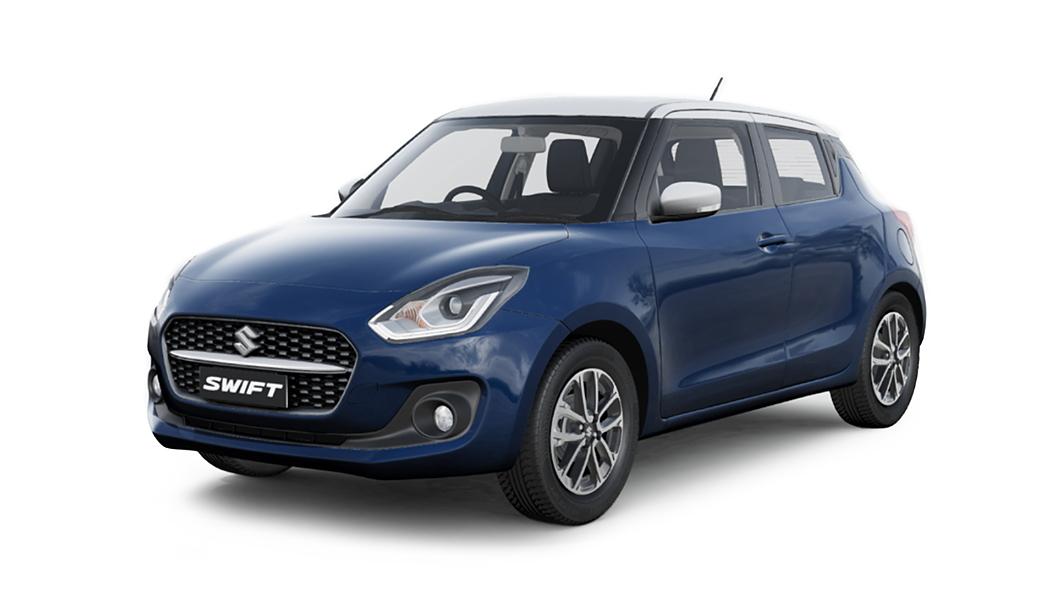 Maruti Suzuki  Swift Pearl Metallic Midnight Blue with Pearl Arctic White Roof Colour