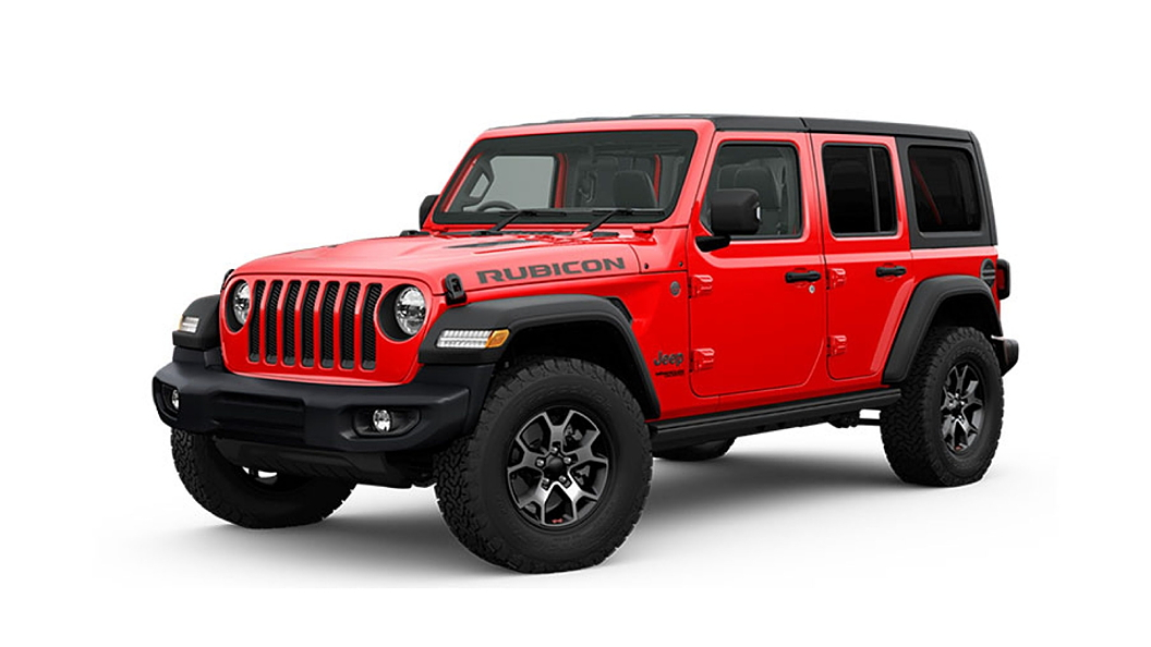 Jeep  Wrangler Firecracker Red Colour