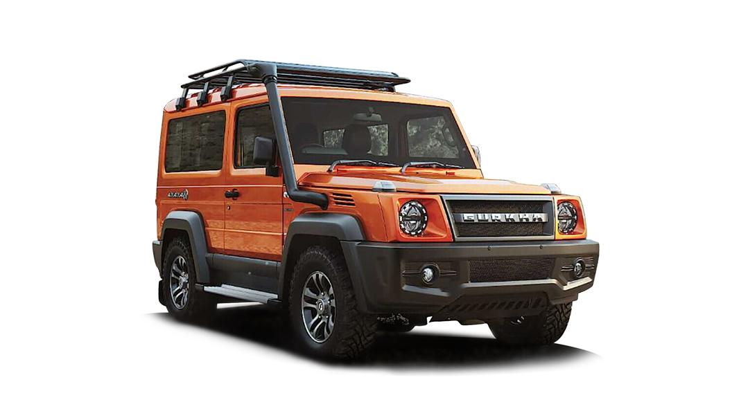 Force Motors  Gurkha Orange Colour