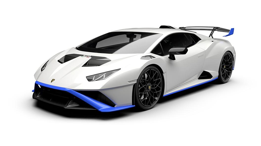 Lamborghini  Huracan STO Bianco Asopo Blu Le Means Colour