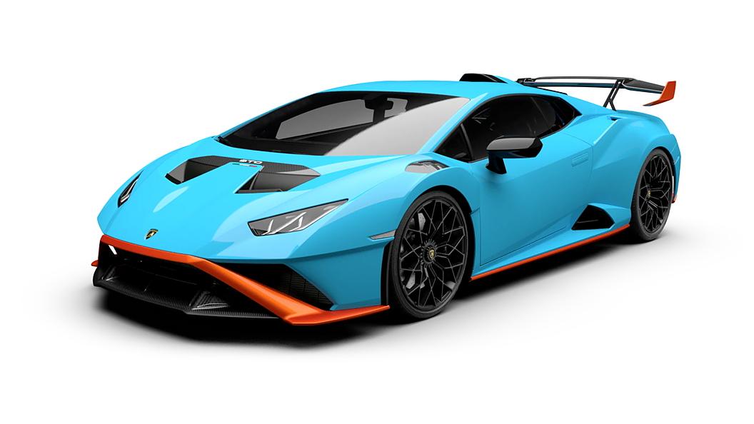 Lamborghini  Huracan STO Blu Laufey arancio Vanto Colour