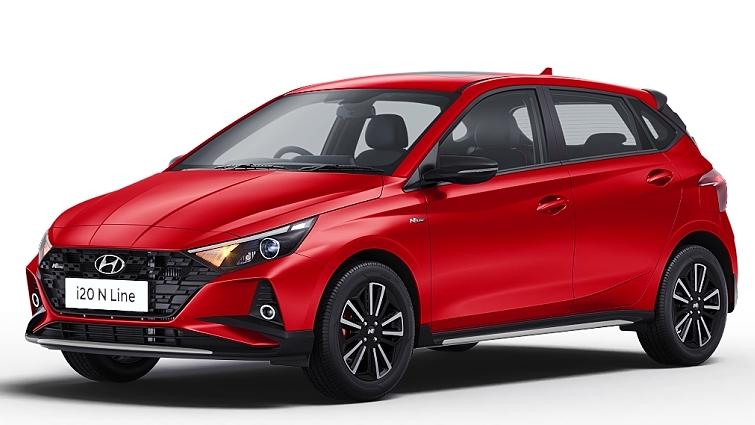 Hyundai  I20 N Line Fiery Red Colour