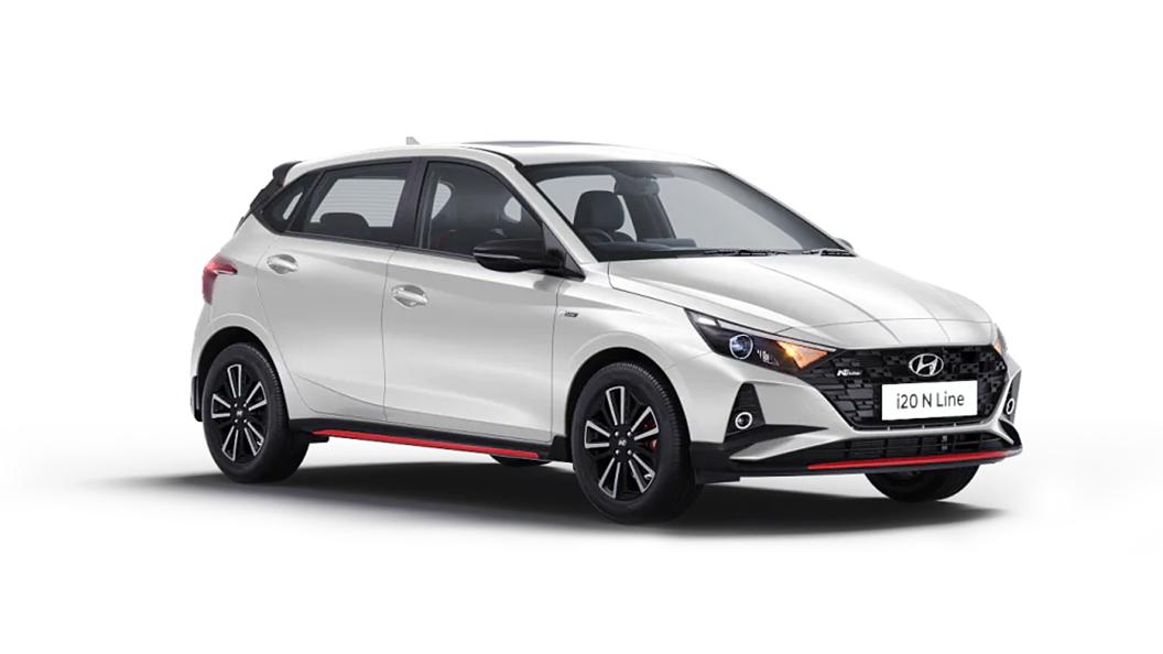 Hyundai  I20 N Line Polar White Colour