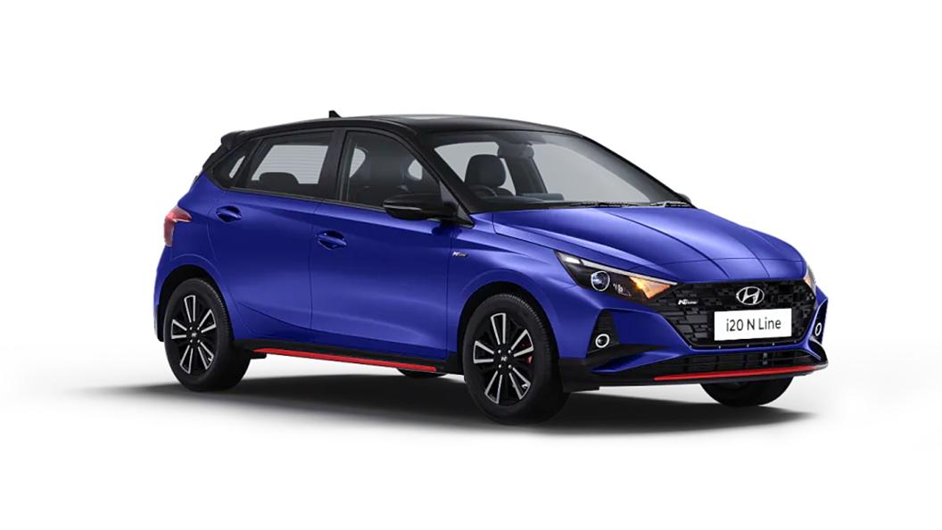 Hyundai  I20 N Line Thunder Blue with Black roof Colour