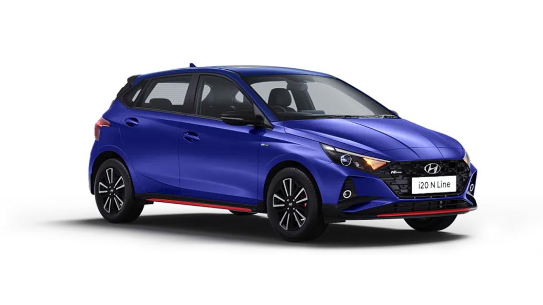 Hyundai  I20 N Line Thunder Blue Colour