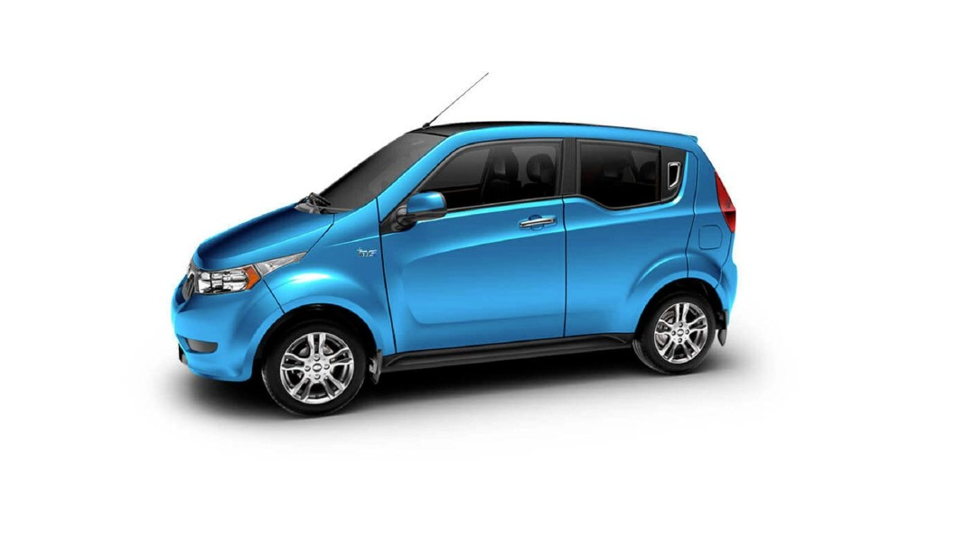 Mahindra  E2o PLUS Coral Blue Colour