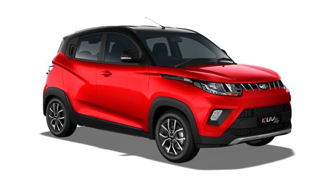 Mahindra  KUV100 NXT Flamboyant Red/Metallic Black Colour