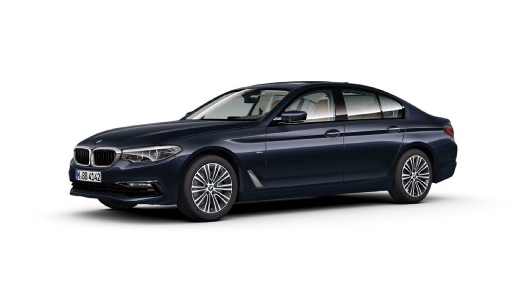 BMW  5 Series Imperial Blue Colour