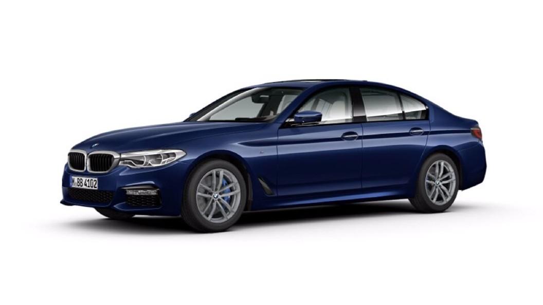 BMW  5 Series Mediterranean Blue Colour