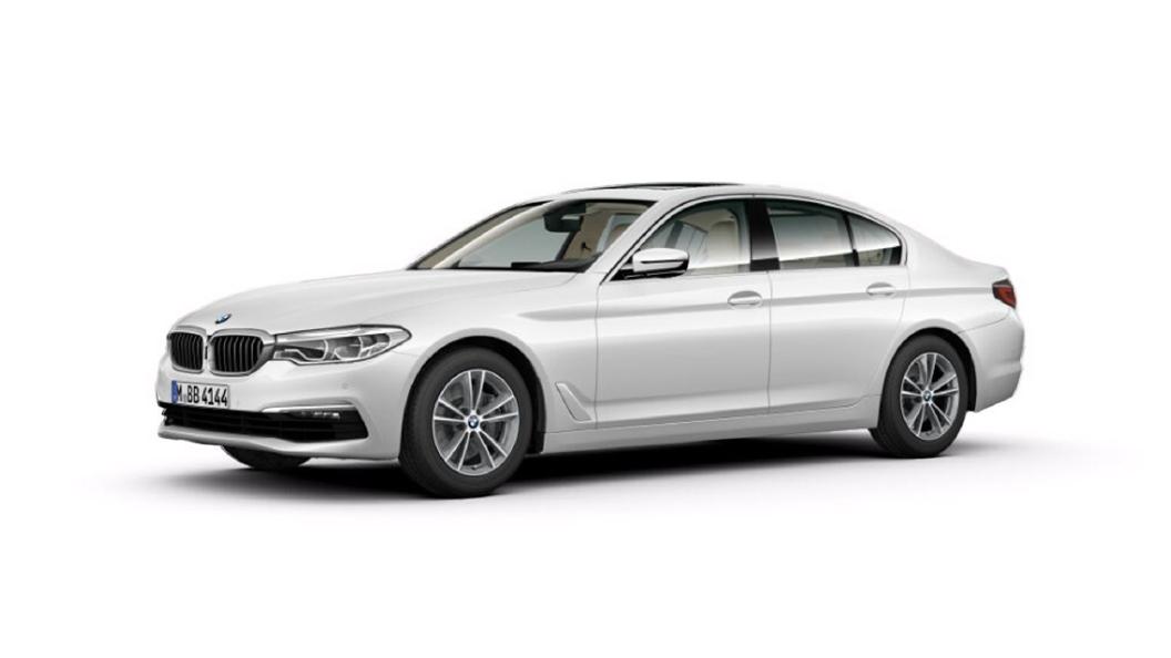 BMW  5 Series Mineral White metallic Colour