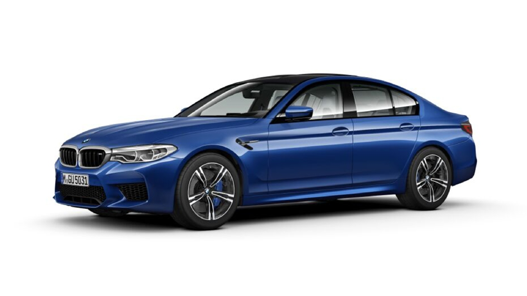 BMW  M5  Frozen  Marina Bay Blue Metallic Colour