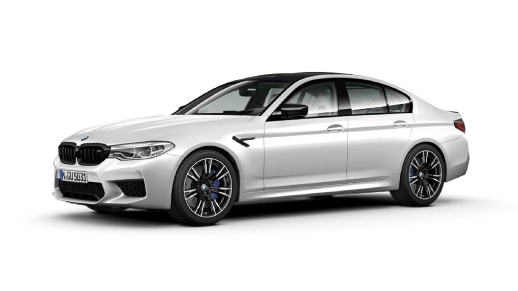BMW  M5 Brilliant White metallic Colour