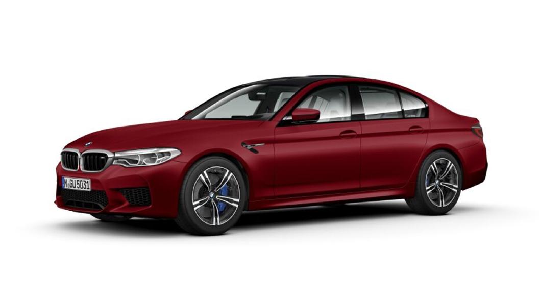 BMW  M5 Frozen Dark Red metallic Colour