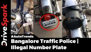 Bangalore Traffic Police Rides With Illegal Number Plate