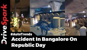 Accident In Bangalore On Republic Day: Truck Topples And Crushes Toyota Etios