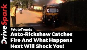 Auto Rickshaw Explodes In Broad Daylight