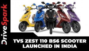 TVS Zest 110 BS6 Scooter Launched In India | Prices, Specs, Features & Other Details