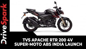TVS Apache RTR 200 4V Super-Moto ABS | India Launch | Prices, Variants & All Other Updates