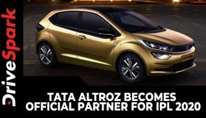 Tata Altroz Becomes Official Partner For IPL 2020