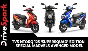 TVS Ntorq 125 'SuperSquad' Edition | Special Marvels Avenger Model | Prices, Specs & Other Details