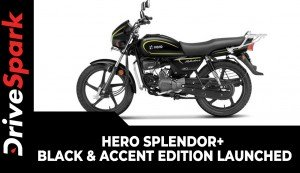 Hero Splendor Plus Black & Accent Edition Launched With Personalization Options | Price & Other Details