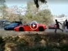 Supercars Get Stoned By Mob
