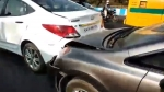 Video: Mercedes-Benz & Six Other Cars Damaged In Multiple-Vehicle Crash In Bangalore