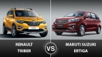 New Renault Triber Vs Maruti Suzuki Ertiga — Which MPV Makes More Sense?