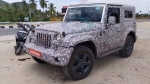 2020 Mahindra Thar Production Ready Model Spied Again Revealing New Details: Spy Pics