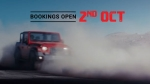 2020 Mahindra Thar Bookings & Launch Timeline Revealed: Teaser Video