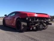 Video: Lamborghini Goes For A Swim After Drag Race!