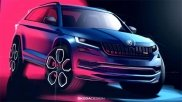 Skoda Kodiaq RS Official Sketches Revealed Ahead Of Global Debut