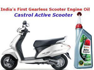 castrol activ scooter oil launched india  gearless scooter engine oil drivespark news