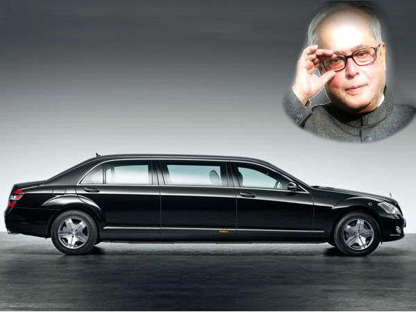 Pranab Mukherjee Indian President Limo Mercedes Benz S600