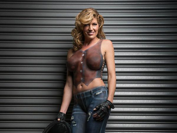 Progressive Motorcycle Show >> Trina Merry Fine Art | Naked Human Body Motorcycle Photos | Two Wheelers - DriveSpark News