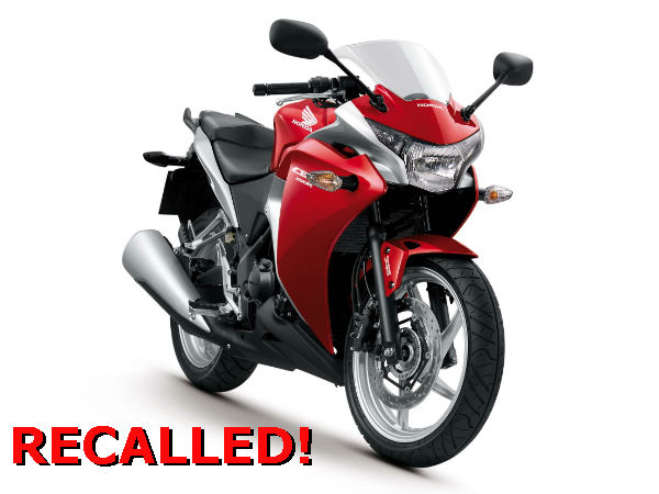 11.5K Honda CBR 250Rs Recalled