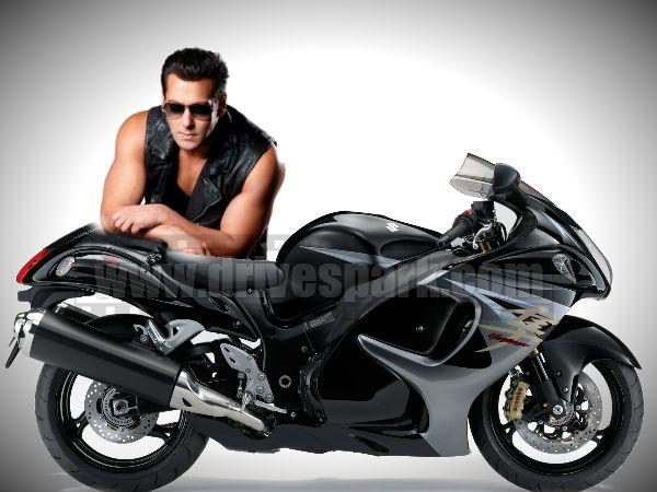 Salman Khan Hayabusa Bike Wallpaper