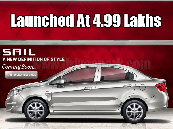 Chevrolet Sail Sedan Launched Price Inr 4 99 Lakhs Diesel Inr