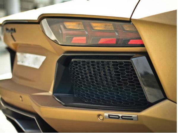 Dc Lamborghini Aventador Painted In Prism Gold 2013 Parx Super
