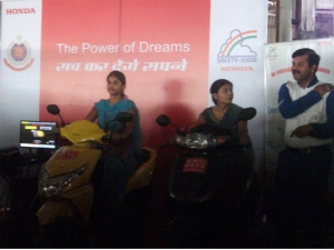 Honda Training Delhi Women In Self Defence, Riding
