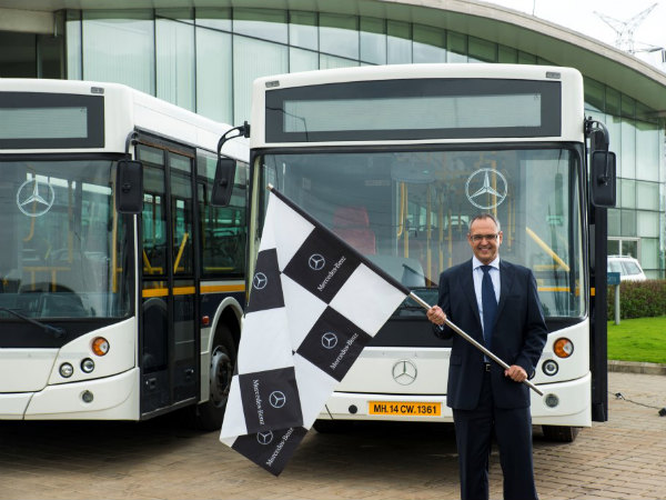 Mercedes benz buses to ferry merc employees drivespark for Mercedes benz employee
