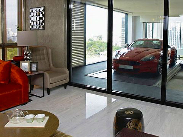 Luxury Apartment Buildings With Sky Garages Bring Cars Inside House Drivespark
