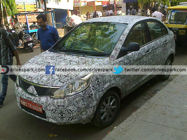 Tata Zest Compact Sedan Spotted Testing In Bangalore Drivespark News