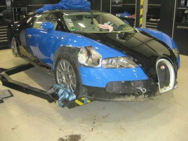 bugatti veyron sold after being wrecked