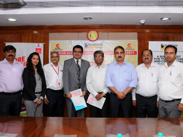 escorts limited collaborate with shriram automall